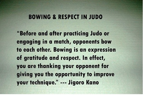 bowing and respect