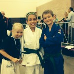 Logan, Aleesha, and Samantha at the Jr Olympics